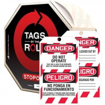 DANGER DO NOT OPERATE TAGS BILINGUAL100 TAGS/ROLL