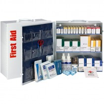 150 Person 675pc ANSI Class B+ First Aid Kit, With Medications, Metal Cabinet