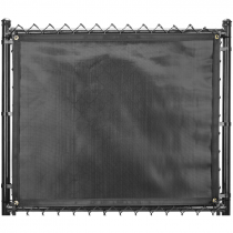 "200-Series Fence Screen, 88% Block, 5'-8"" x 50' - Jet Black"