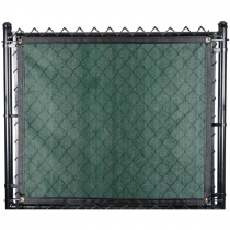 "200-Series Fence Screen, 88% Block, 5'-8"" x 50' - Forest Green"