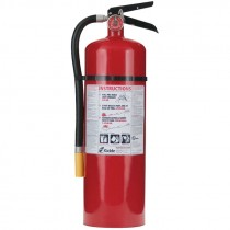 10 lb ABC Fire Extinguisher, Rechargeable, Steel Body, Wall Hanger