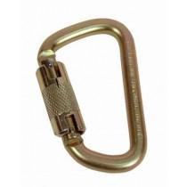 "Steel Carabiner, Self Closing & Locking Gate, 11/16"" (17.5 mm) Opening"