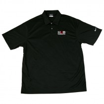 Nike Golf Dri-FIT Black Polo with Embroidered HUB Logo, Medium