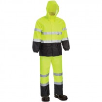 Class 3 Hi-Vis Yellow Economy Rainsuit, Medium