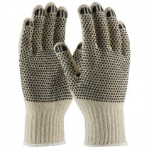 String Knit Gloves, PVC Dottted, X-Small