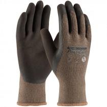 C1500-L Powergrab Brown Latex Microfinish Poly Large Gloves