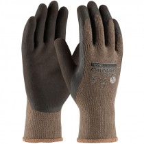 C1500-M Powergrab Brown Latex Microfinish Poly Medium Glove