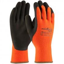 Powergrab Thermo Hi-Vis Orange Large Brown Latex Dipped Glove, Large