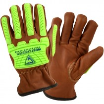 Cut & Impact Resistant Goat Glove, Liquid Resistant Coating, Kevlar Stitching, Large