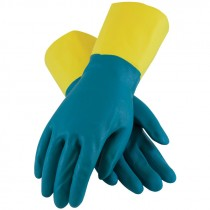 "12"" 28 Mil. Neoprene Over Latex Chemical Glove, Embossed Grip, Flock Lined, Large"