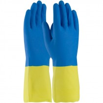 "12"" 19 Mil. Neoprene Over Latex Chemical Glove, Embossed Grip, Flock Lined, Large"