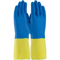 """12"""" 19 Mil. Neoprene Over Latex Chemical Glove, Embossed Grip, Flock Lined, X-Large"""
