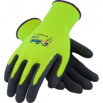 G-Tek® Lite™ Hi-Vis Yellow Glove,  Latex Coated MicroSurface Grip, X-Large