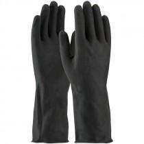 48-L300K-XL 28 Mil. Flock Lined X-Large Black Latex Gloves
