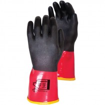 Chemstop™ Kevlar Lined PVC Chemical Glove, Full Nitrile Coating, Large