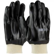 Jersey Glove, Knit Wrist, Double Dipped Sandy Finish Full PVC Coat, OSFM