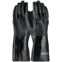 """14"""" PVC Double-Dipped Glove, Etched Grip, Jersey Lining, Universal Size"""