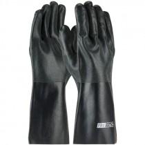 "8140DD 14"" Black PVC Dipped Sandy Finish Gloves"