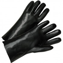 "10"" PVC Dipped Glove, Smooth Grip, Interlock Lining, Universal Size"