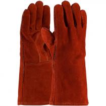 Select Shoulder Split Cowhide Welding Glove, Rust Color, Kevlar Stitched, OSFM