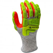 HPPE Cut & Impact Resistant Glove, Sandy Foam Nitrile Coated Palm, Medium