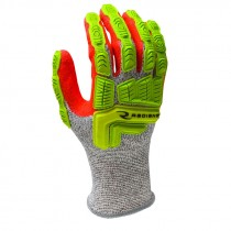 HPPE Cut & Impact Resistant Glove, Sandy Foam Nitrile Coated Palm, Large