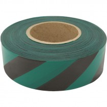 1 3/16 X 100Y Green/Black Stripe Flagging Tape