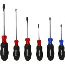 6 PIECE PROFERRED SCREWDRIVER SET W/ RUBBERIZED CUSHION GRIP HANDLES