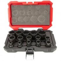 "1/2"" 15 Piece Proferred® 6 Point Impact Socket Set, SAE"