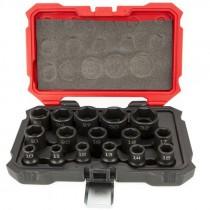 "1/2"" 16 Piece Proferred® 6 Point Impact Socket Set, Metric"