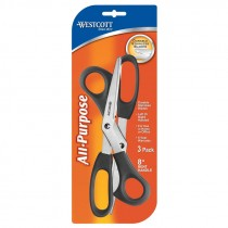 8 IN. VALUE SCISSORS 3/PK