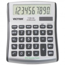 10 DIGIT LCD COMPACT DESKTOP CALCULATORANTIMICROBIAL