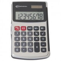 8 DIGIT LCD HANDHELD CALCULATOR DUALPOWER W/ HARD FLIP CASE
