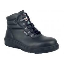 Asphalt Worker's Boot, Composite Toe, Puncture Resistant Plate, Black, Men's Size 7.5