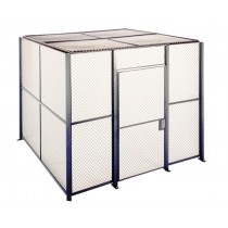 10' x 10' x 8' 4-Sided Wire Mesh Store Room, Without Roof
