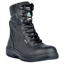 US Road Worker's Boot, Composite Toe, Puncture Resistant Plate, Black, Men's Size 6
