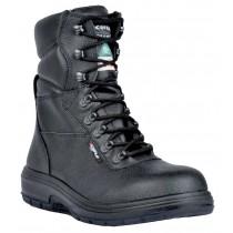 US Road Worker's Boot, Composite Toe, Puncture Resistant Plate, Black, Men's Size 9.5