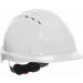 JSP® Vented Hard Hat, Wheel Ratchet Suspension, White