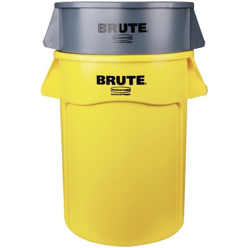 gray rubbermaid brute trash can 44 gal