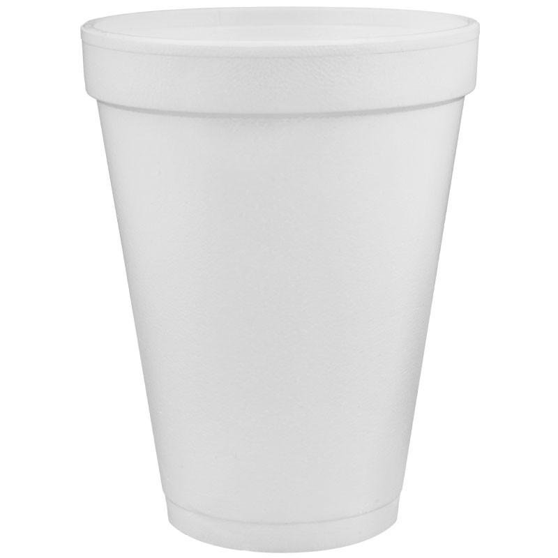 Dart® 16 Oz. White Foam Cups - 1,000 / Case