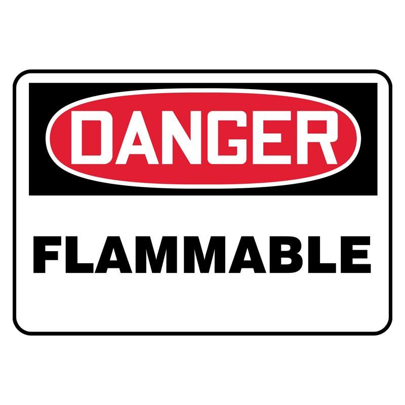 """7"""" x 10"""" Danger Flammable Sign"""