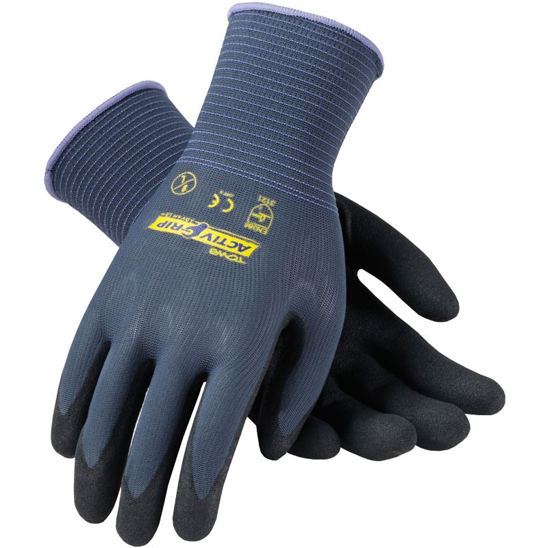 Activ-Grip Micro-Finish Black Nitrile Work Glove - Large