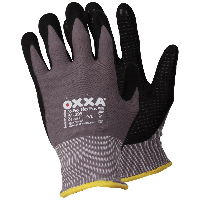 51-295/L Pro-Flex Nitrile Coated Large Micro Foam Gloves with Dots
