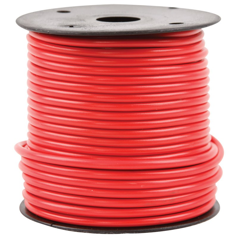 16G WIRE  RED - 100 FT.