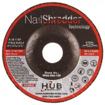 "4-1/2"" x 3/32"" x 7/8"" T27 HUB Nail Shredder Cutting Wheels"