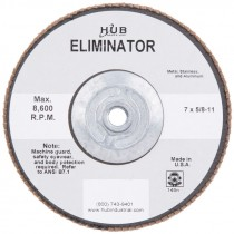 7 X 5/8-11 60# T27 Zirconium Silver Flap Disc