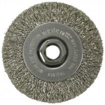 "4"" x 5/8-11 Crimped Wire Wheel - Carbon Steel (.014 Wire)"