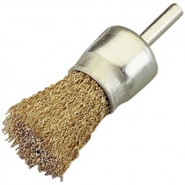 1 IN. COATED STEEL KNOT WIRE END BRUSH .020 WIRE