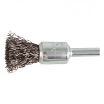 "3/4"" Crimped Wire End Brush .014"" - Carbon Steel"