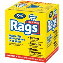 "#75260 10"" X 13"" Scott® Rags In-A-Box - Pop-Up Box - White"